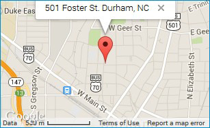 Map of Durham Central Park